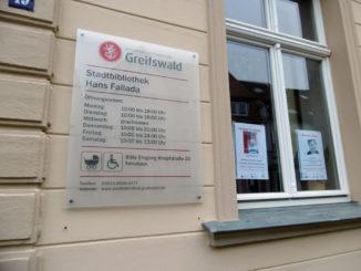Hans-Fallada-Bibliothek in Greifswald