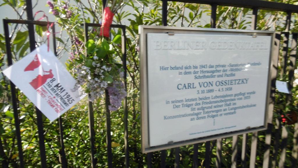 Gedenktafel Für Carl von Ossietzky