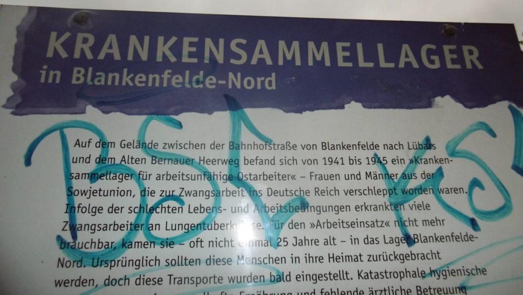 Erinnerungstafel für das Kriegsgefangenenlager Berlin-Blankenfelde